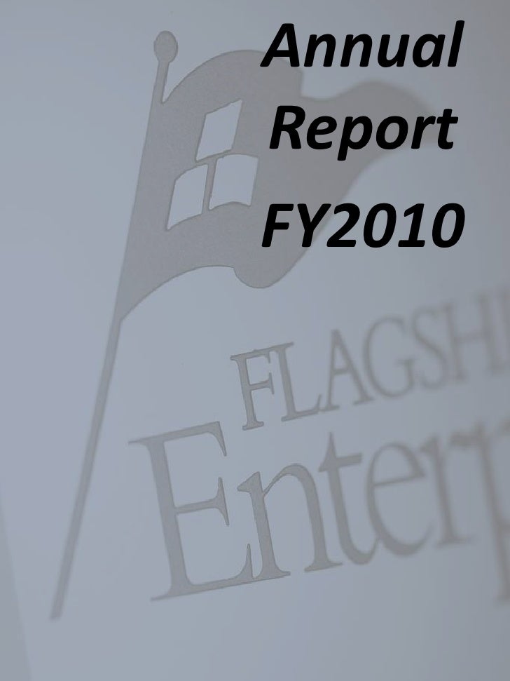 Flagship Enterprise Center Annual Report