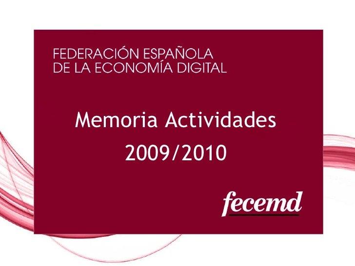 Memoria Actividades 2009/2010