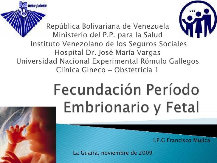 Fecundación periodo embrionario y fetal
