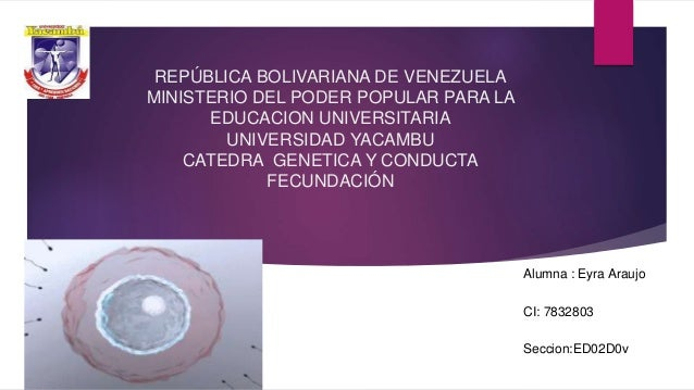 REPÚBLICA BOLIVARIANA DE VENEZUELA MINISTERIO DEL PODER POPULAR PARA LA EDUCACION UNIVERSITARIA UNIVERSIDAD YACAMBU CATEDR...