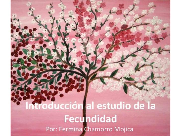 Introducción al estudio de la        Fecundidad    Por: Fermina Chamorro Mojica