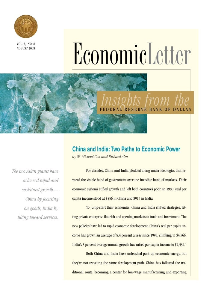 EconomicLetter   vol. 3, no. 8   aUGUsT 2008                                                       Insights from the      ...
