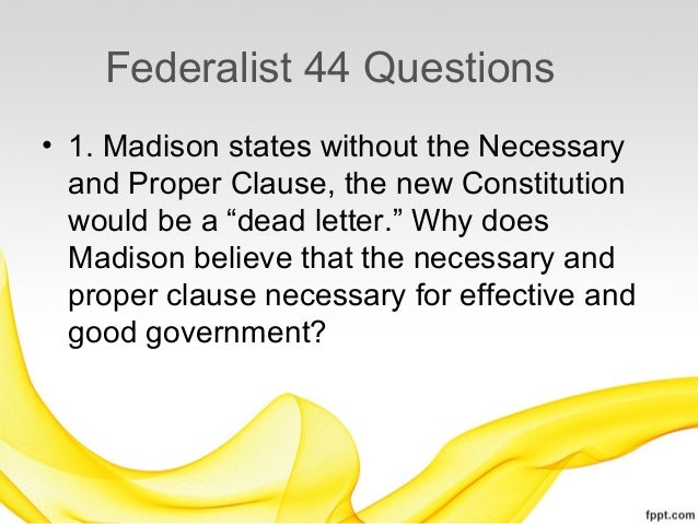 federalist 51 Find out more about the history of federalist papers, including videos, interesting articles, pictures, historical features and more get all the facts on historycom.