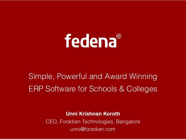 Fedena - World Education Summit 2014, New Delhi, India