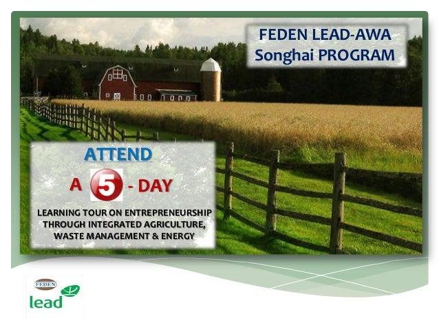 FEDEN LEAD AWA Songhai Program