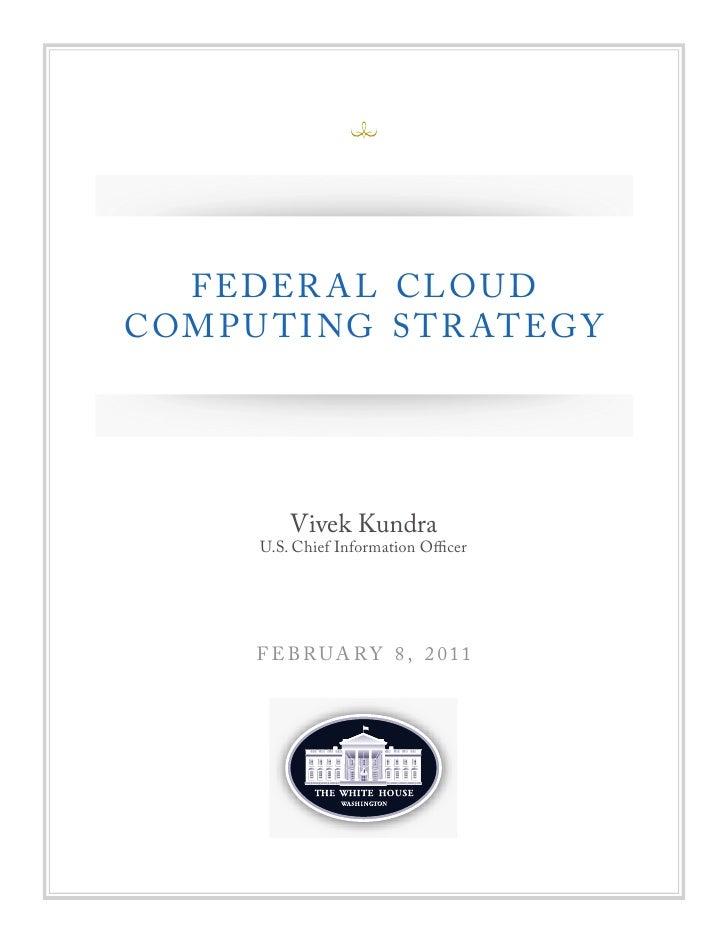 Federal Cloud Computing Strategy