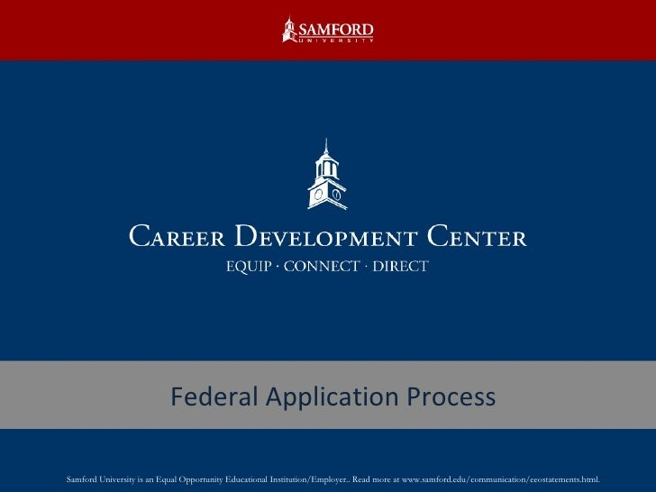 The Federal Job Application Process