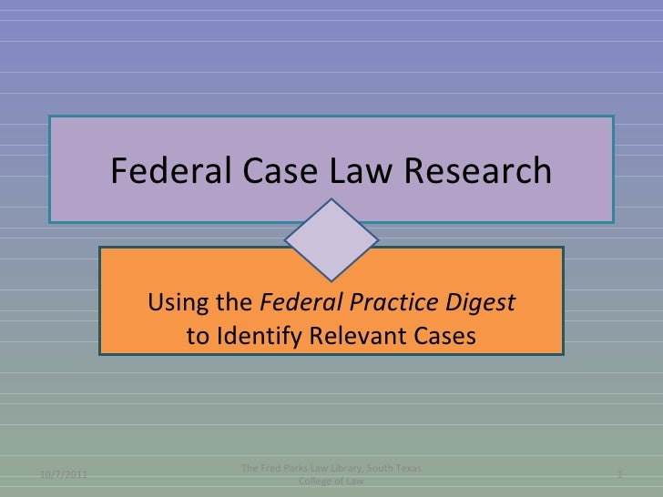 Federal case law research flowchart