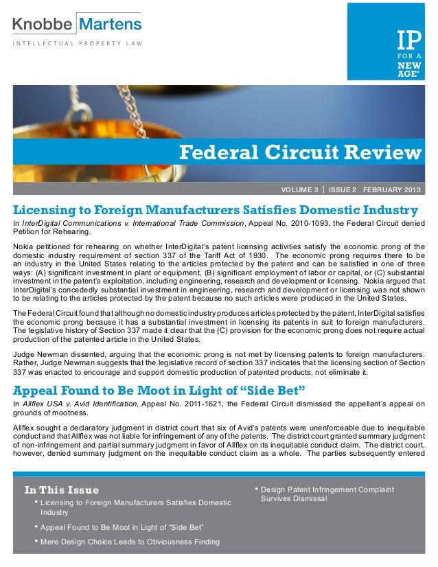 Federal Circuit Review                                                                                  VOLUME 3 | ISSUE 2...