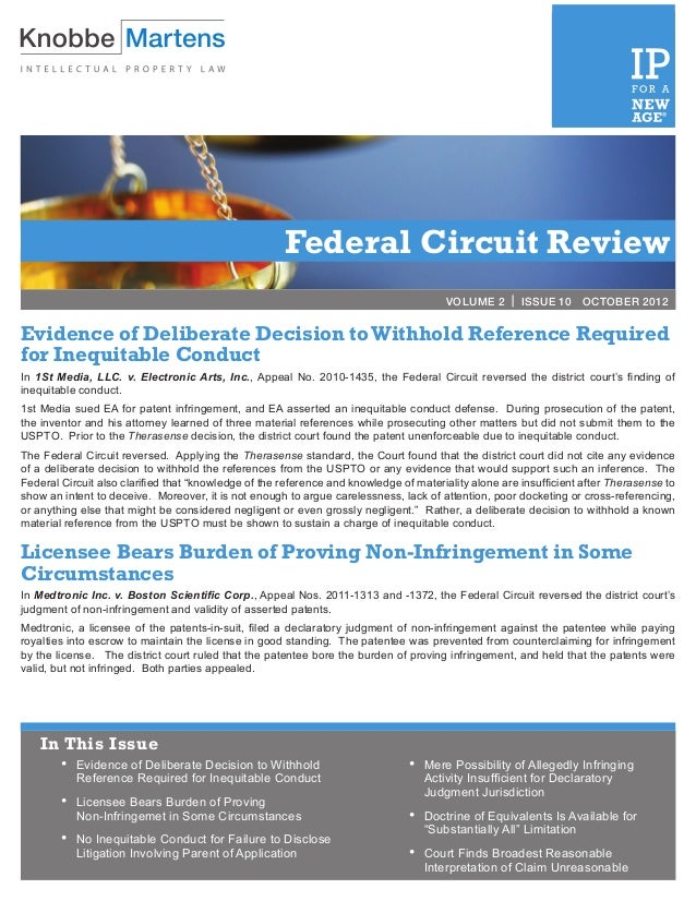 Federal Circuit Review                                                                                       VOLUME 2 | IS...