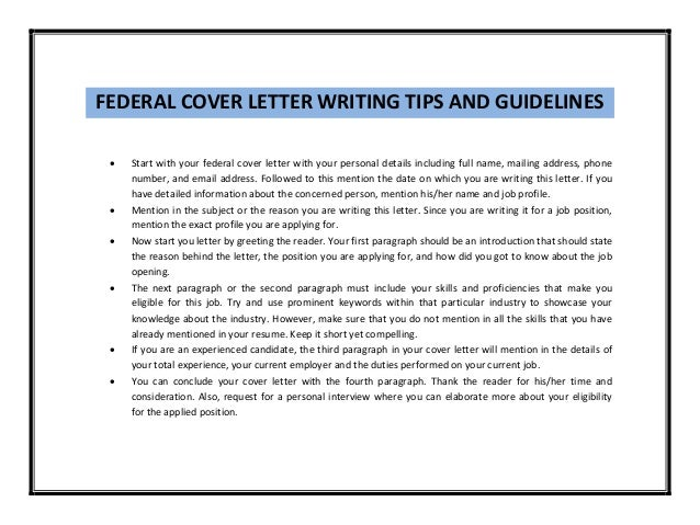 [sample cover letter for federal] manager cover letter ...