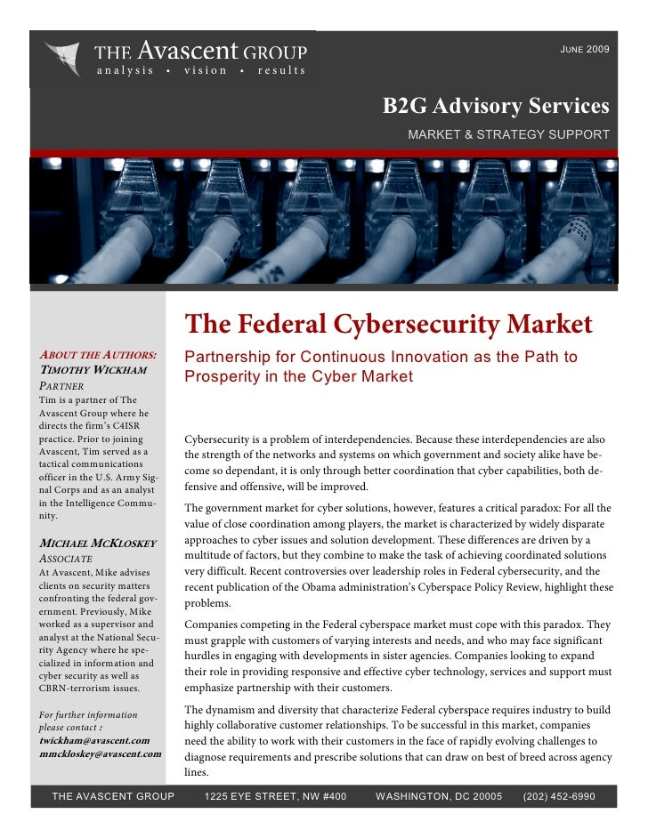 Federal Cybersecurity Government Partnering Strategies: Avascent White Paper