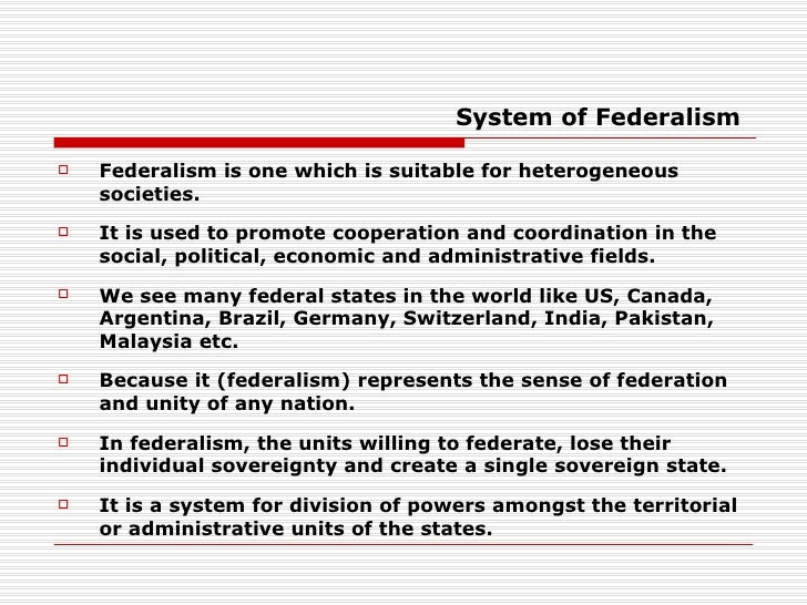 federalism a happy medium between unitary and This is because through federalism, governance is no longer concentrated in the center, ie manila  as we are the only nation in southeast asia that is under a unitary form of government.