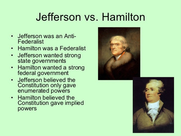did thomas jefferson out federalize the federalist The militia: in history and today written  meaning that congress can federalize the militia of one or more  but consider james madison's words in the federalist.