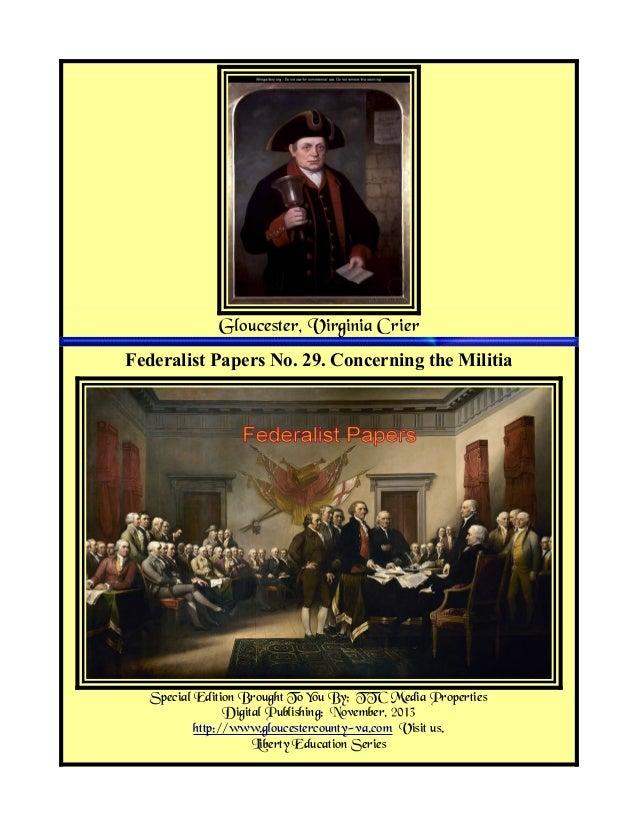 Federalist papers militia