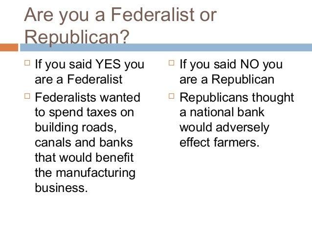 federalist vs democratic republican venn diagram