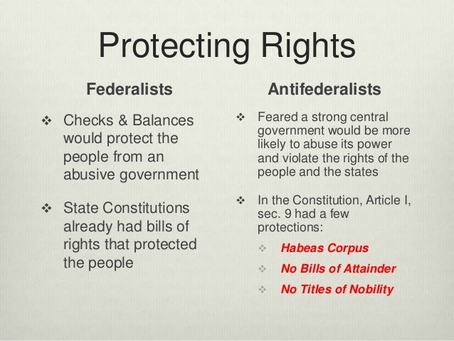 anti federalists essays The contrasting opinions of the federalists and the anti-federalists the article of confederation was the first new government for independent state under.