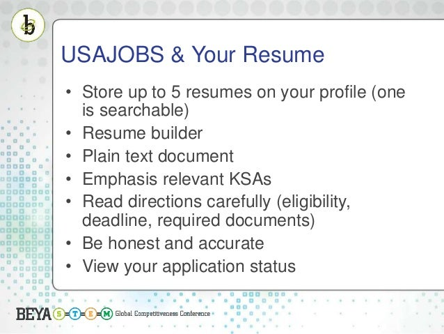 usajobs your resume store up to 5 resumes on your