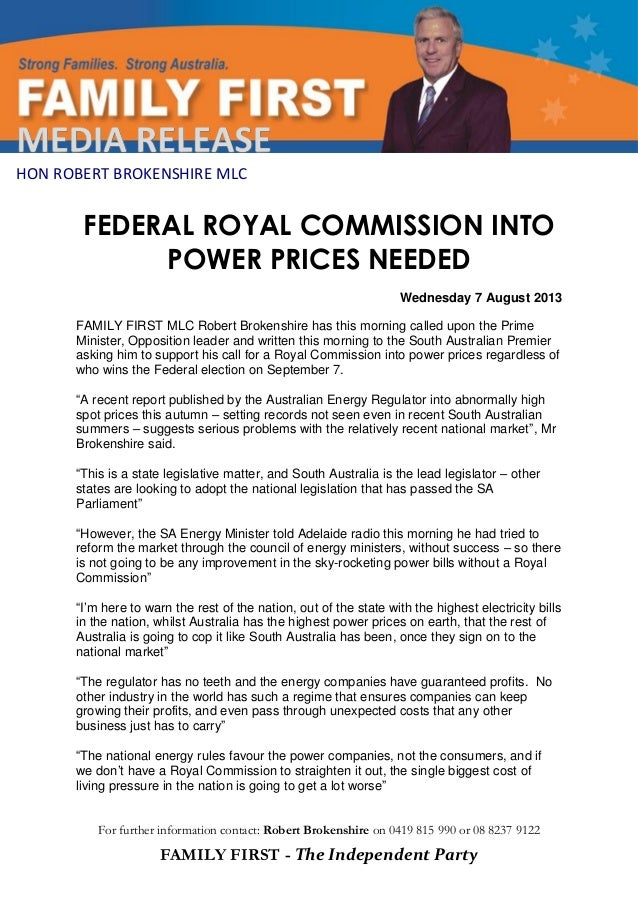 Federal royal commission needed into power prices