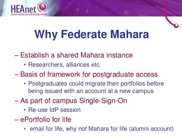 Federating mahara