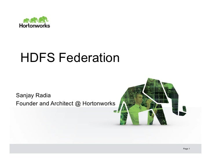 HDFS Futures: NameNode Federation for Improved Efficiency and Scalability