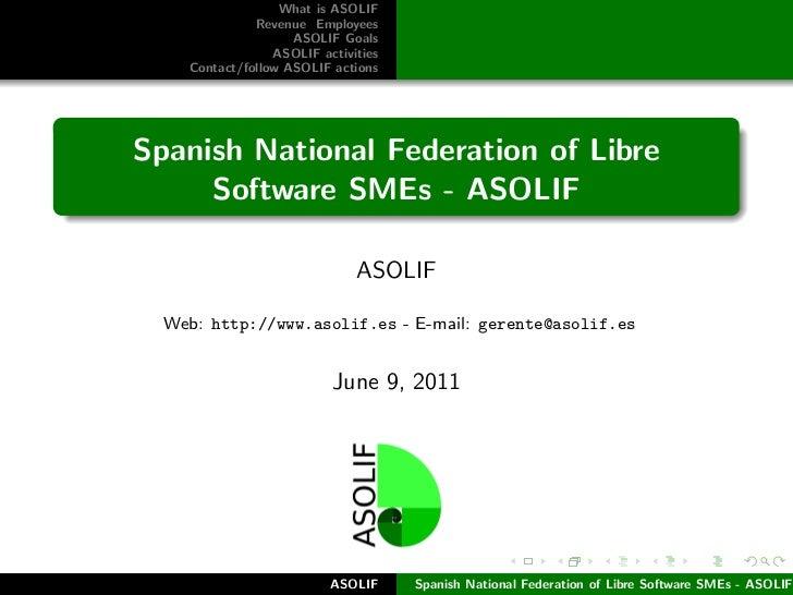 ASOLIF - Spanish National Federation of Libre Software SMEs