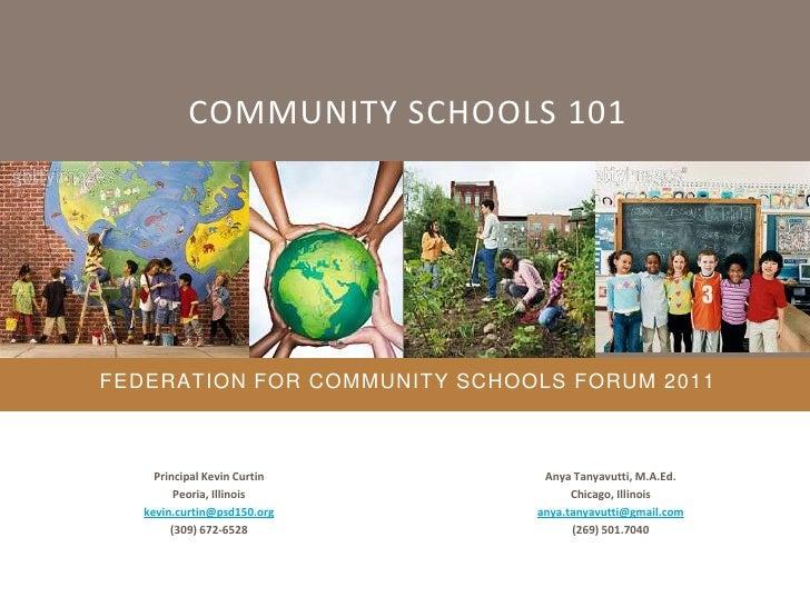 Federation For Community Schools Forum 2011
