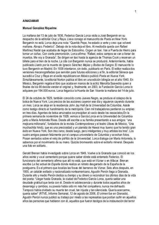 1AINADAMARManuel González RiquelmeLa mañana del 13 de julio de 1936, Federico García Lorca visita a José Bergamín en sudes...