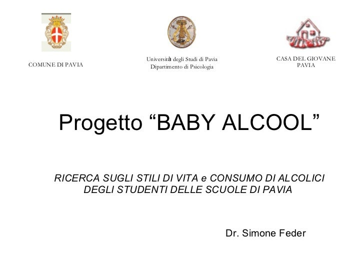 "Progetto ""BABY ALCOOL"""