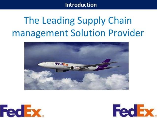 fedex case study supply chain management