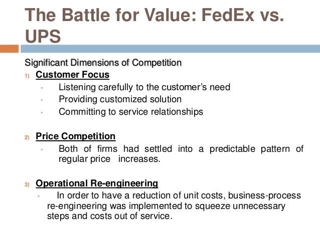 FedEx vs UPS – Battle for Value Essay