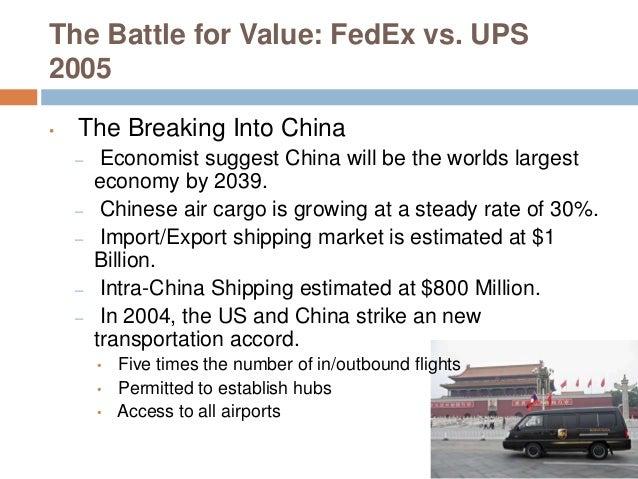 Case Study: UPS vs. Federal Express