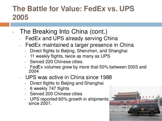 fedex ups battle for value Fedex-ups: the battle for value summary points - fedex-ups: the battle for value summary points prof mike vetsuypens smu cox school of business eva=economic value added eva=net operating profit after tax (nopat  | powerpoint ppt presentation | free to view.