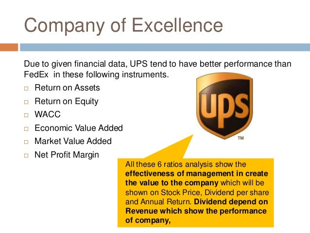 ups vs fedex financial analysis Difference between fedex and ups the world, especially in arena of business, is very busy nowadays in the days before globalization, customers would go to places.