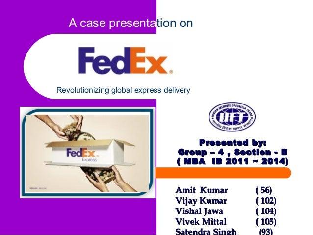 Case Study – FedEx Corporation