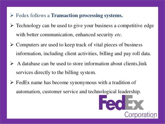 "fedex case study on creating value Fedex case studyplease read the case study at the end of chapter 6 entitled ""fedex's independent contractors: is the company really week 3 fed ex case study."