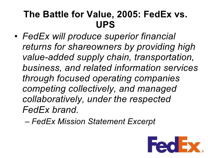 fedex corp vs ups study case essay