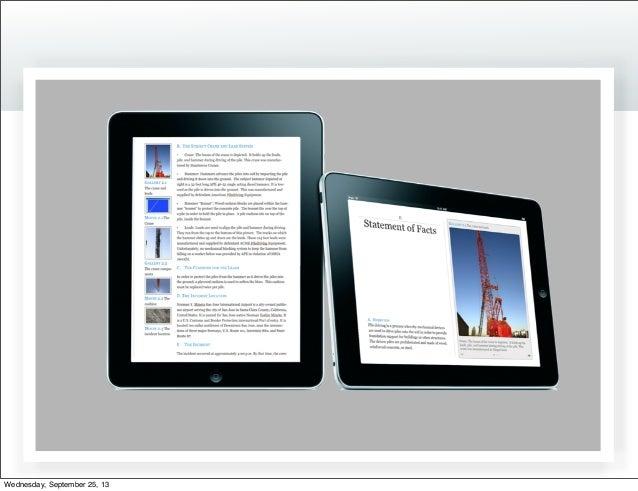 Fed iPad presentation