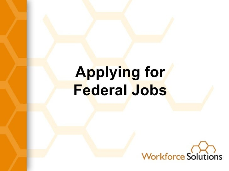 Applying for Federal Jobs