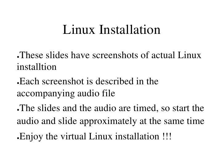 Fedora linux installtion