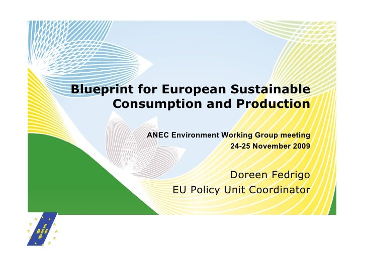 Blueprint for European Sustainable       Consumption and Production            ANEC Environment Working Group meeting     ...