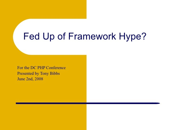 <ul><ul><li>For the DC PHP Conference </li></ul></ul><ul><ul><li>Presented by Tony Bibbs </li></ul></ul><ul><ul><li>June 2...