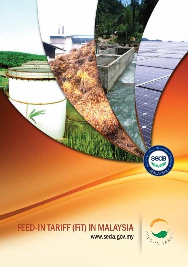 Feed in tariff malaysia brochure 2012