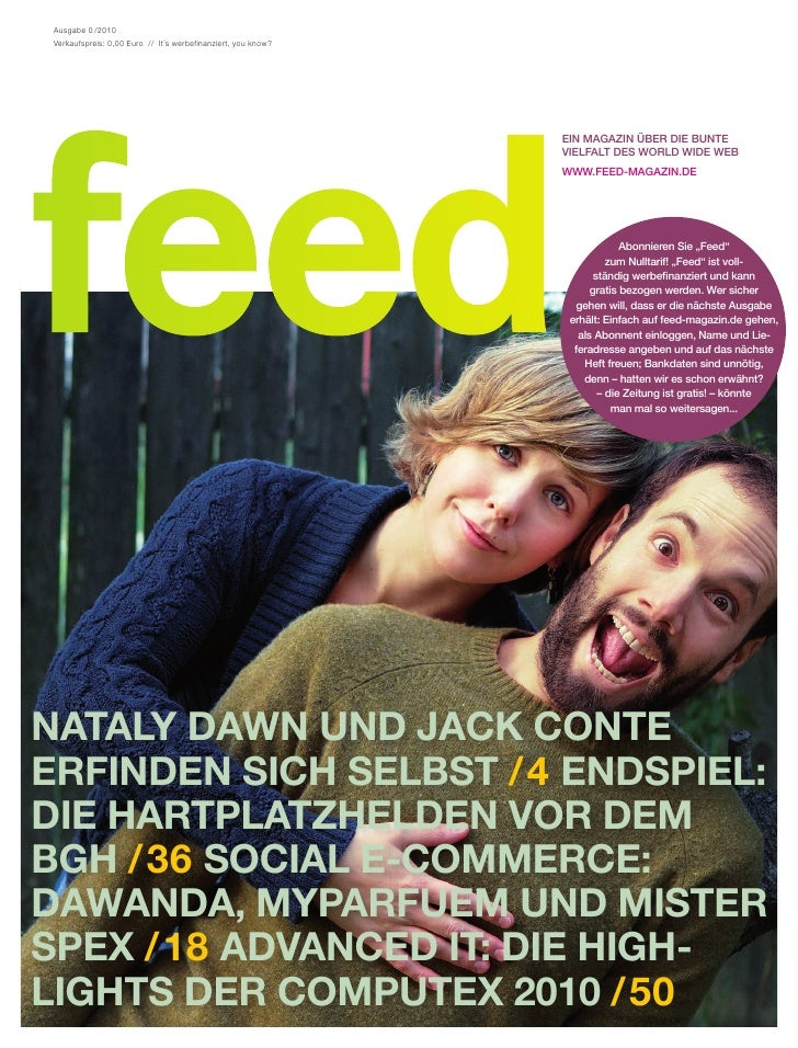 Feed Magazin Preview - Erste Ausgabe