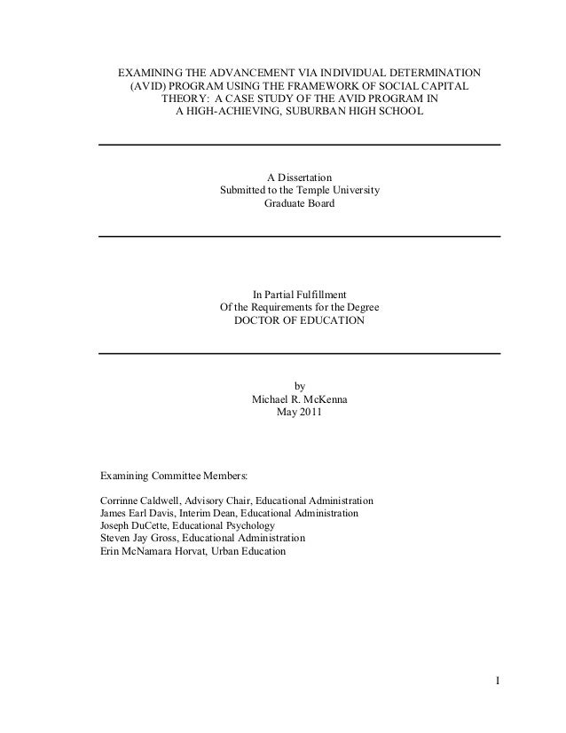 Dissertation student achievement and expenditure