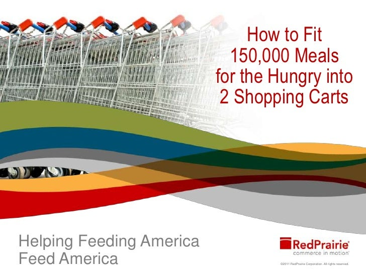 How to Fit 150,000 Meals for the Hungry into 2 Shopping Carts<br />Helping Feeding America Feed America's Hungry<br />