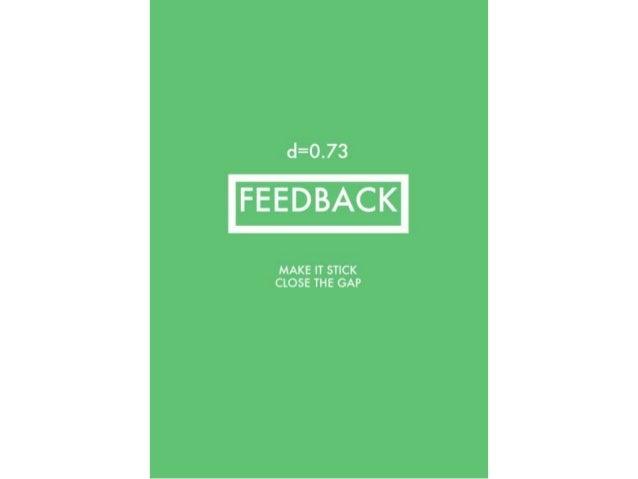 @davidfawcett27 #feedback Feedback in practical Feedback from the teacher Immediate opportunity to act on the feedback Fur...