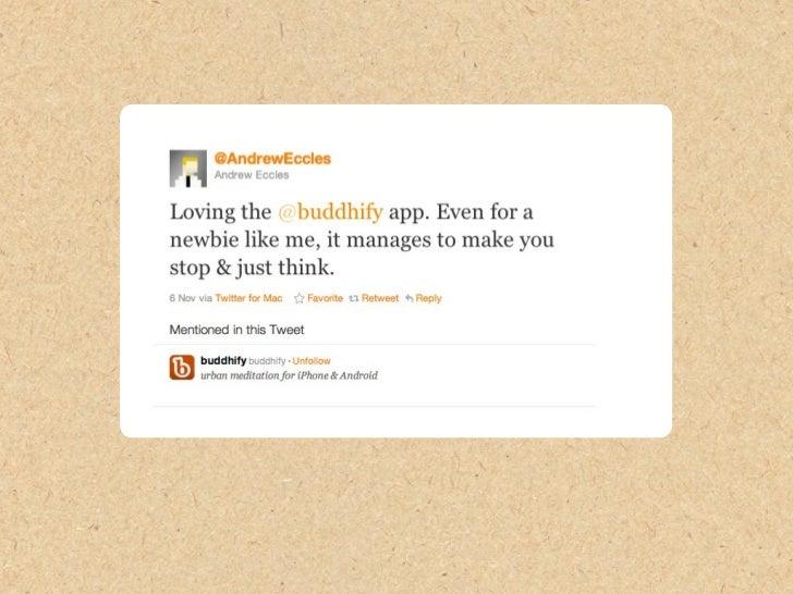 buddhify user feedback