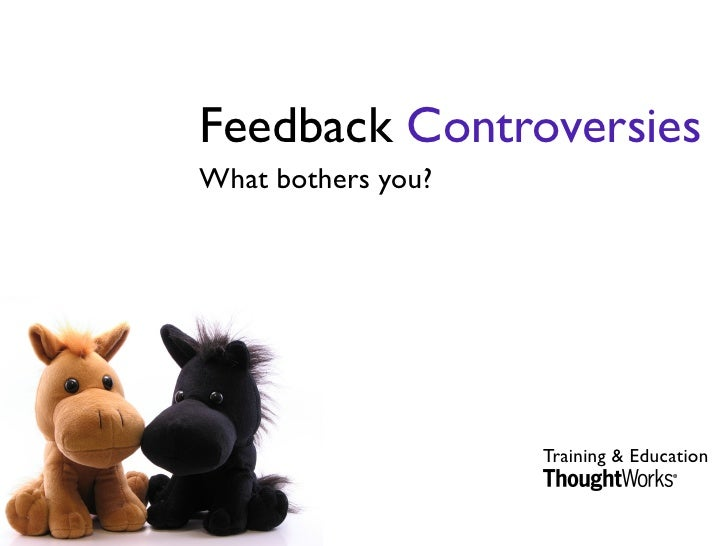 Feedback Controversies What bothers you?                         Training & Education