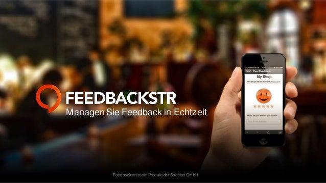 Managen Sie Feedback in Echtzeit  Feedbackstr ist ein Produkt der Spectos GmbH
